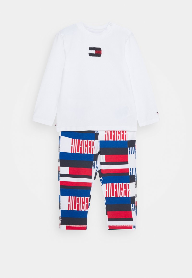 Tommy Hilfiger - BABY PRINTED SET - Trousers - blue