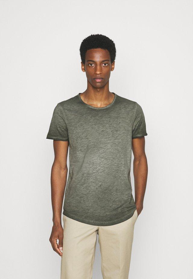 KURZARM - T-shirt basic - khaki/oliv