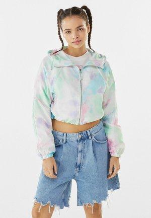 MIT KAPUZE  - Summer jacket - turquoise