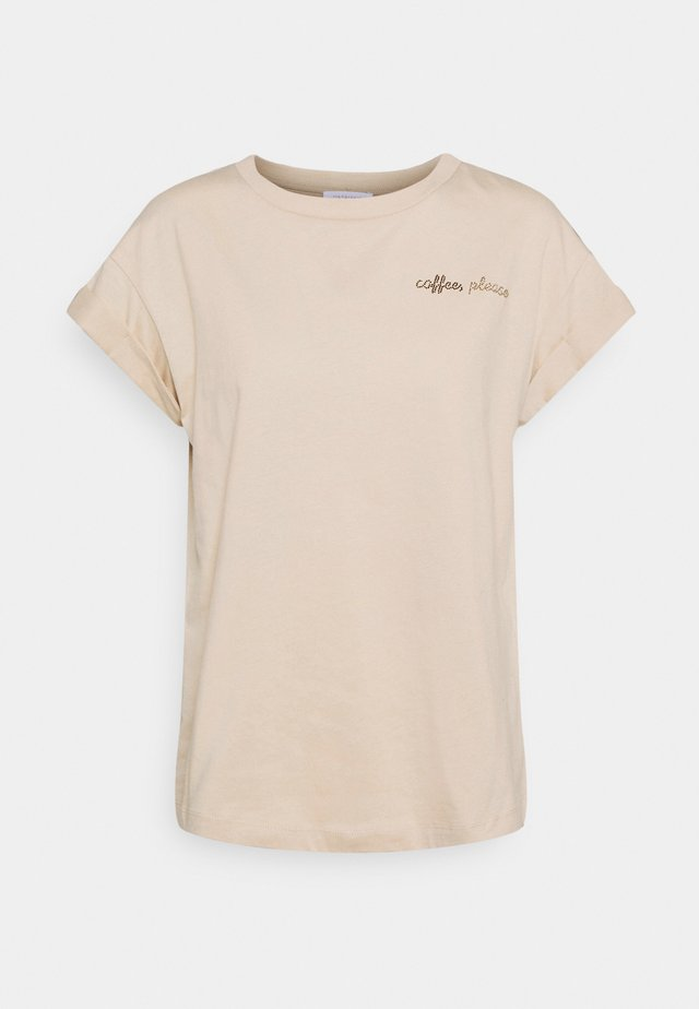 BOYFRIEND SPARKLE  - T-shirt print - coffee