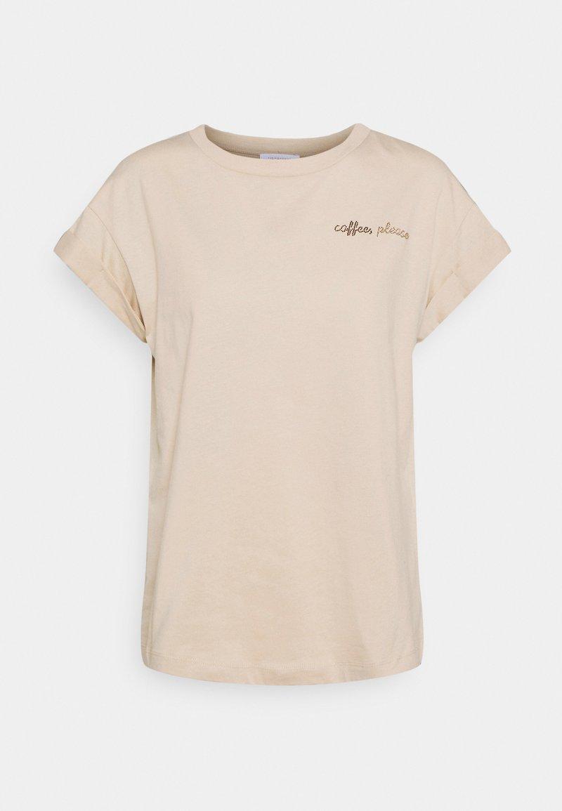 Rich & Royal - BOYFRIEND SPARKLE  - Print T-shirt - coffee