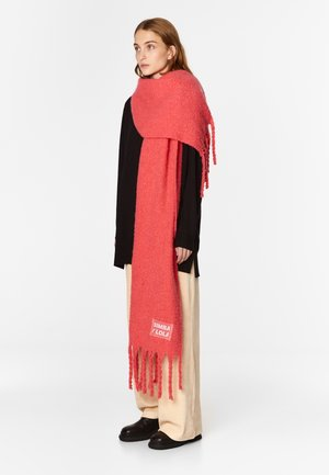 Scarf - neon coral