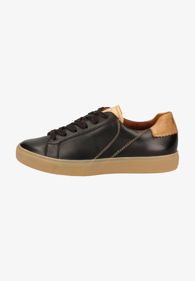 Sneakers laag - schwarz/mittelbraun 087