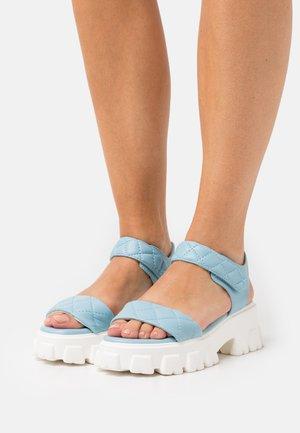 DANICA - Platform sandals - blue