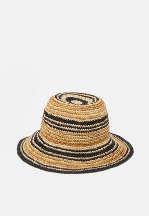 STRIPED - Hat - cream beige