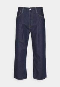 STAY LOOSE PLEATED CROP - Relaxed fit jeans - dark indigo
