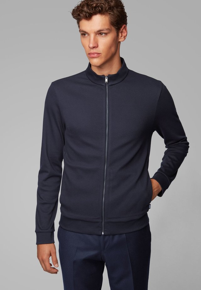 SKILES 02 - veste en sweat zippée - dark blue