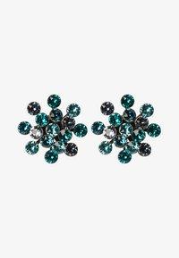 Konplott - MAGIC FIREBALL - Boucles d'oreilles - blue/green antique/silver-coloured - 1