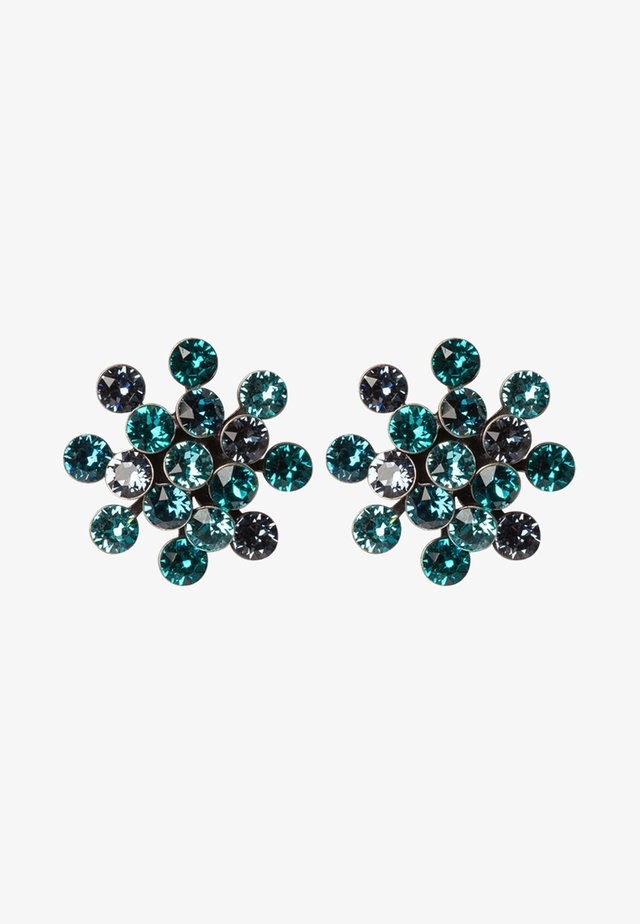 MAGIC FIREBALL - Pendientes - blue/green antique/silver-coloured