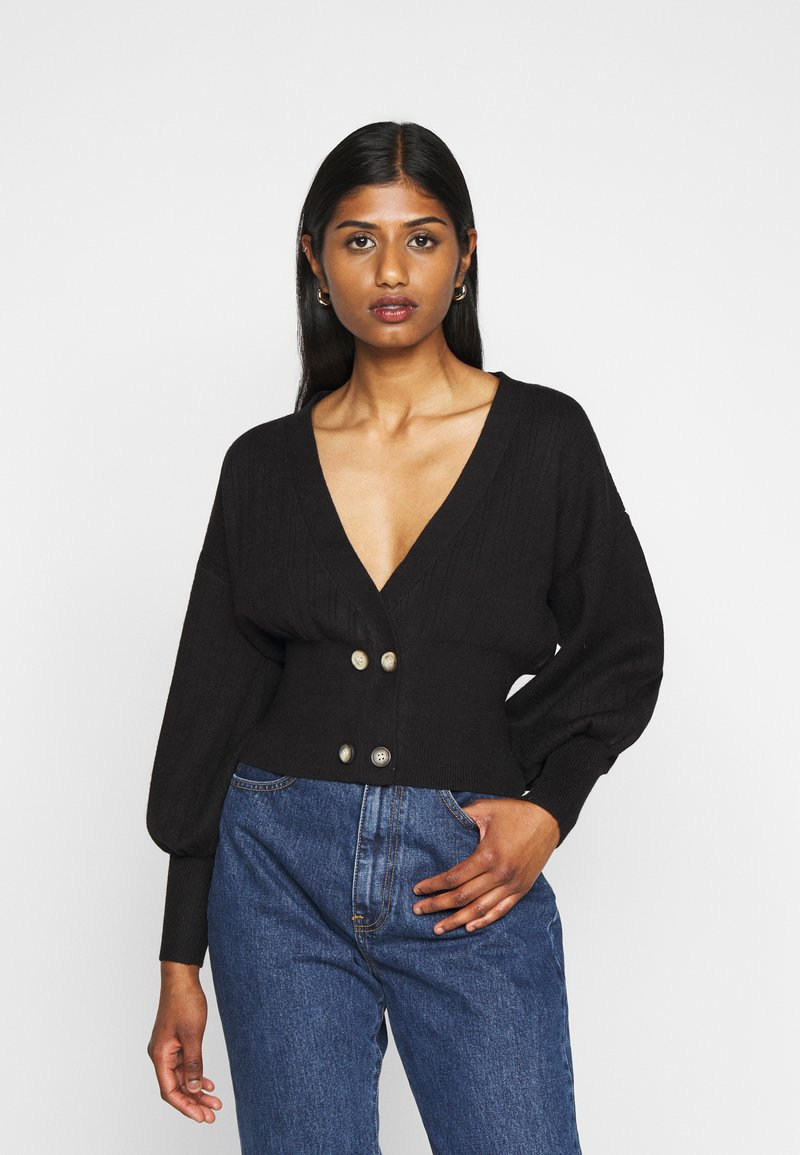 Fashion Union Petite - MEEKER - Cardigan - black