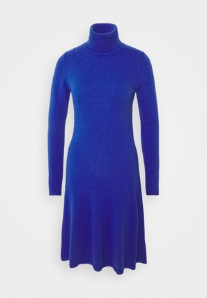 DRESS - Gebreide jurk - blue