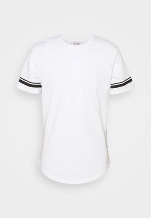 ONSMATT LIFE LONGY STRIPE - T-shirt print - white