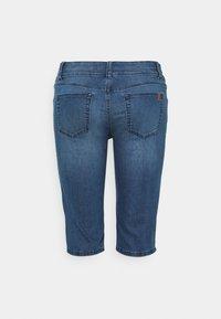 MY TRUE ME TOM TAILOR - CAPRI - Denim shorts - clean dark stone blue denim - 1