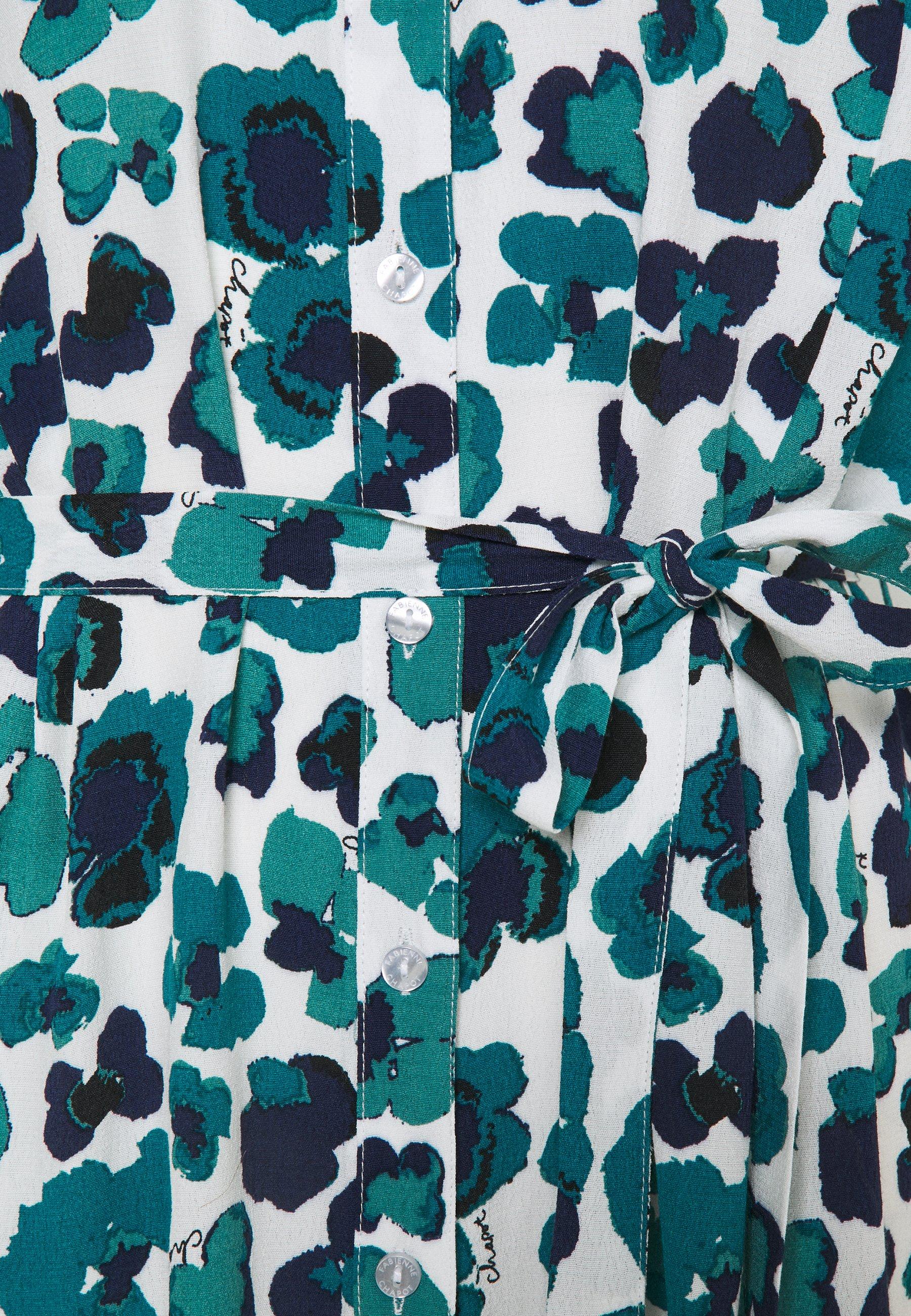 Manchester Wholesale Fabienne Chapot BOYFRIEND DRESS - Shirt dress - cream white/navy | women's clothing 2020 i8UmQ