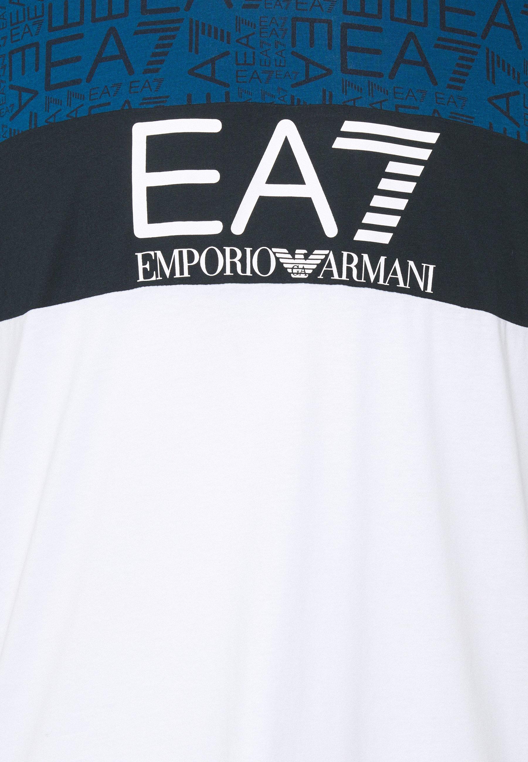 EA7 Emporio Armani Print T-shirt - white 3DdIf