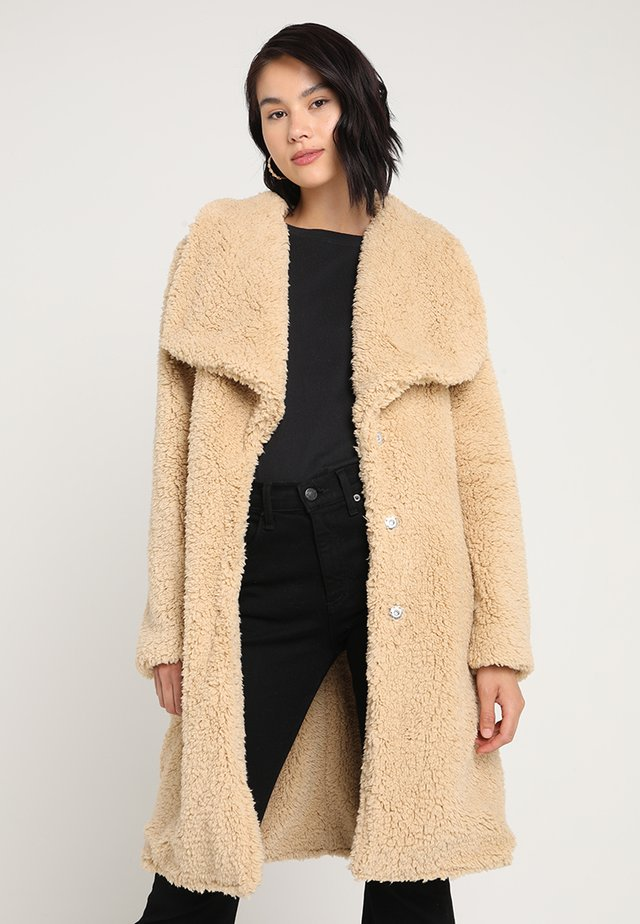 LADIES SOFT COAT - Winter coat - darksand
