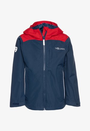 KIDS BERGEN - Hardshell jacket - bright red/mystic blue