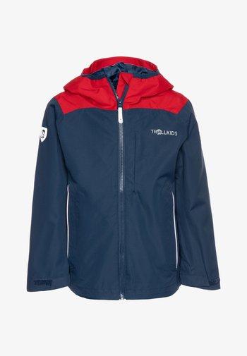 KIDS BERGEN - Hardshell jacket - bright red/mystic blue