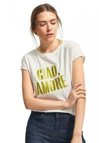 comma - Print T-shirt - white - 0