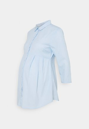 NURSING BUTTON-DOWN BLOUSE - Skjorte - light blue