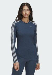 adidas Originals - FAKTEN LONG SLEEVE TEE - Long sleeved top - blue - 0