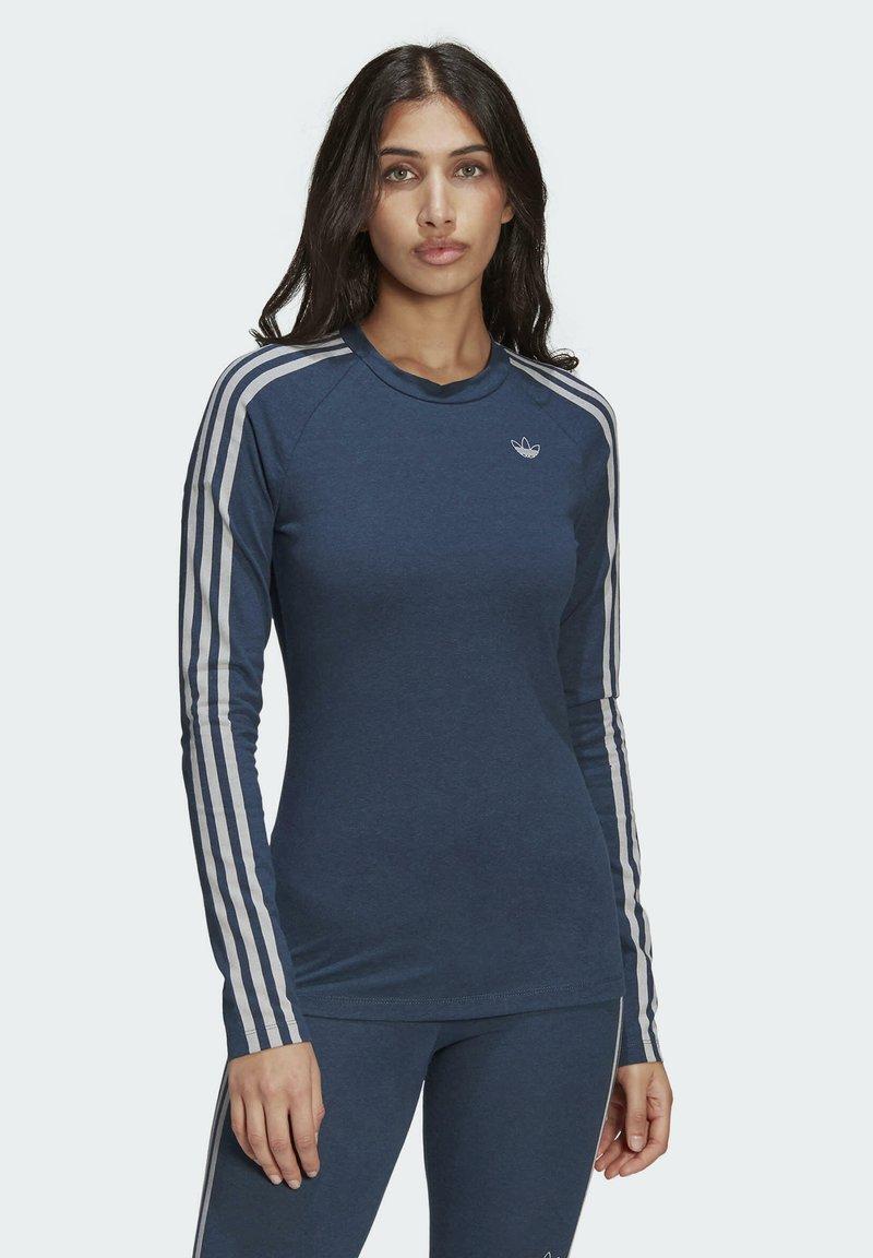 adidas Originals - FAKTEN LONG SLEEVE TEE - Long sleeved top - blue