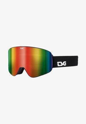FOUR S - Skibrille - solid black/rainbow chrome