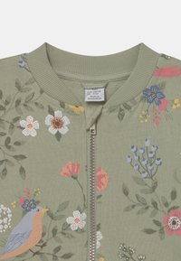 Lindex - MINI BIRD AND FLOWER - Zip-up hoodie - dusty green - 2