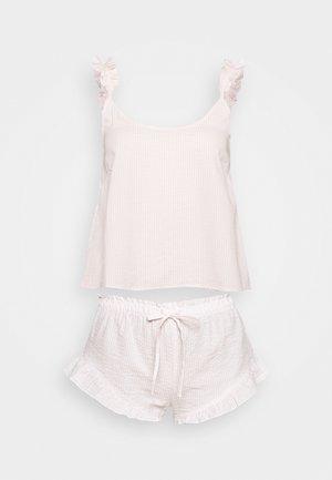 STRIPE CAMI SHORT SET  - Pyjama set - pink