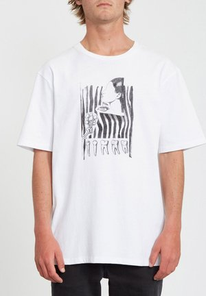 HUNTER GATHER BXY SS - T-shirt con stampa - white