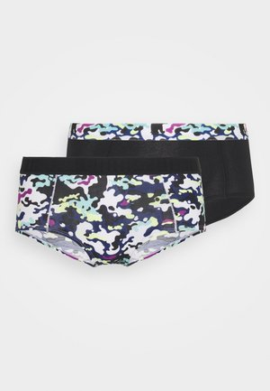 WOMEN PRINTED MINI SHORT 2 PACK - Pants - black combo