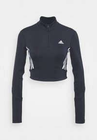 adidas Performance - CROP LONGSLEEVE - Camiseta de deporte - black/white - 0