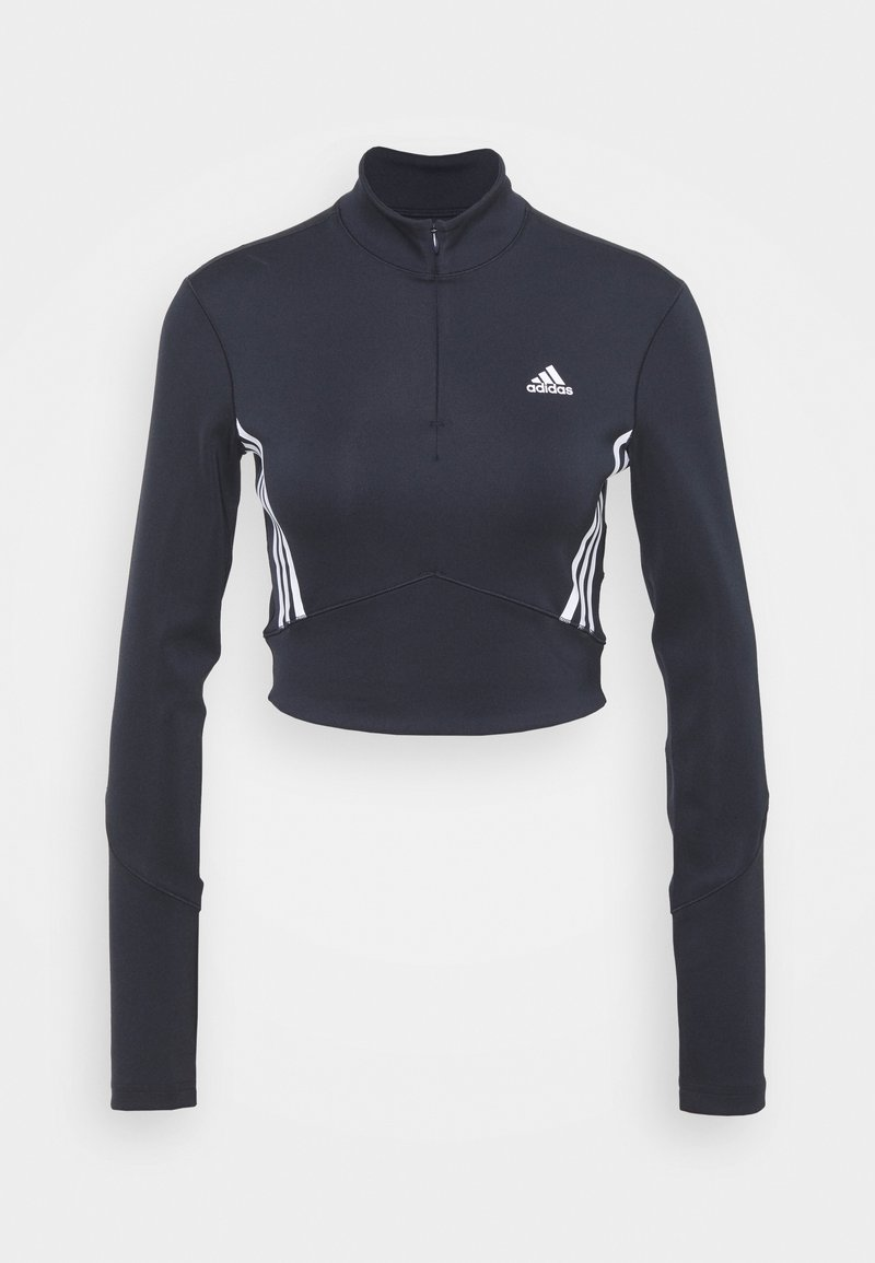adidas Performance - CROP LONGSLEEVE - Camiseta de deporte - black/white
