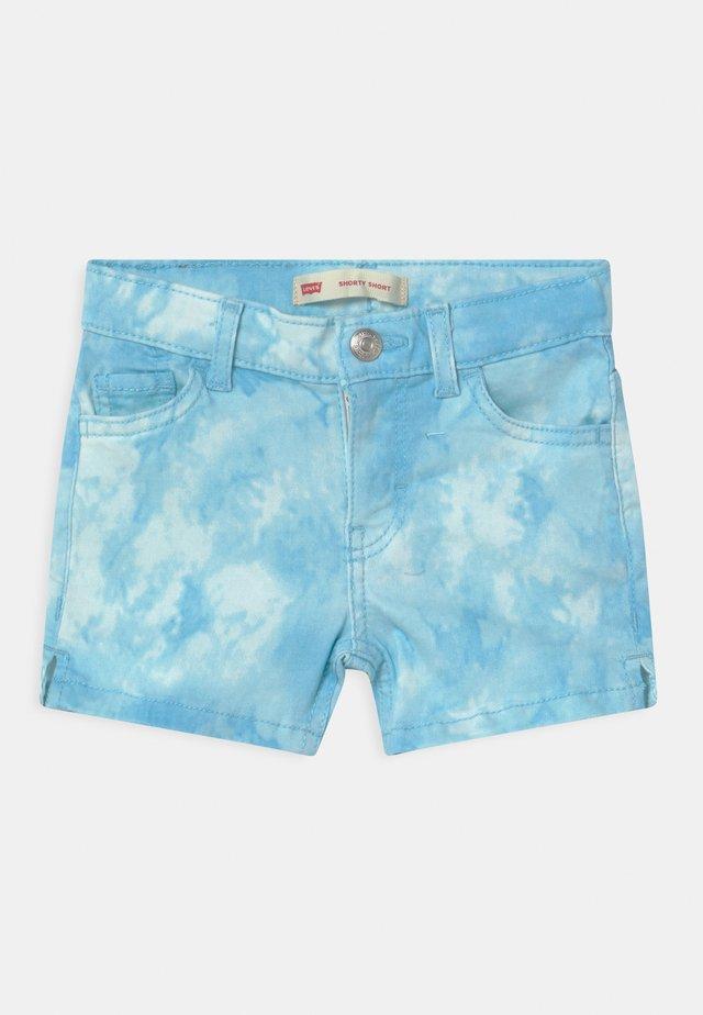 TIE DYE - Denim shorts - blue topaz
