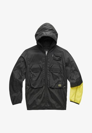 UTILITY FABRIC MIX FIELD - Light jacket - dk black