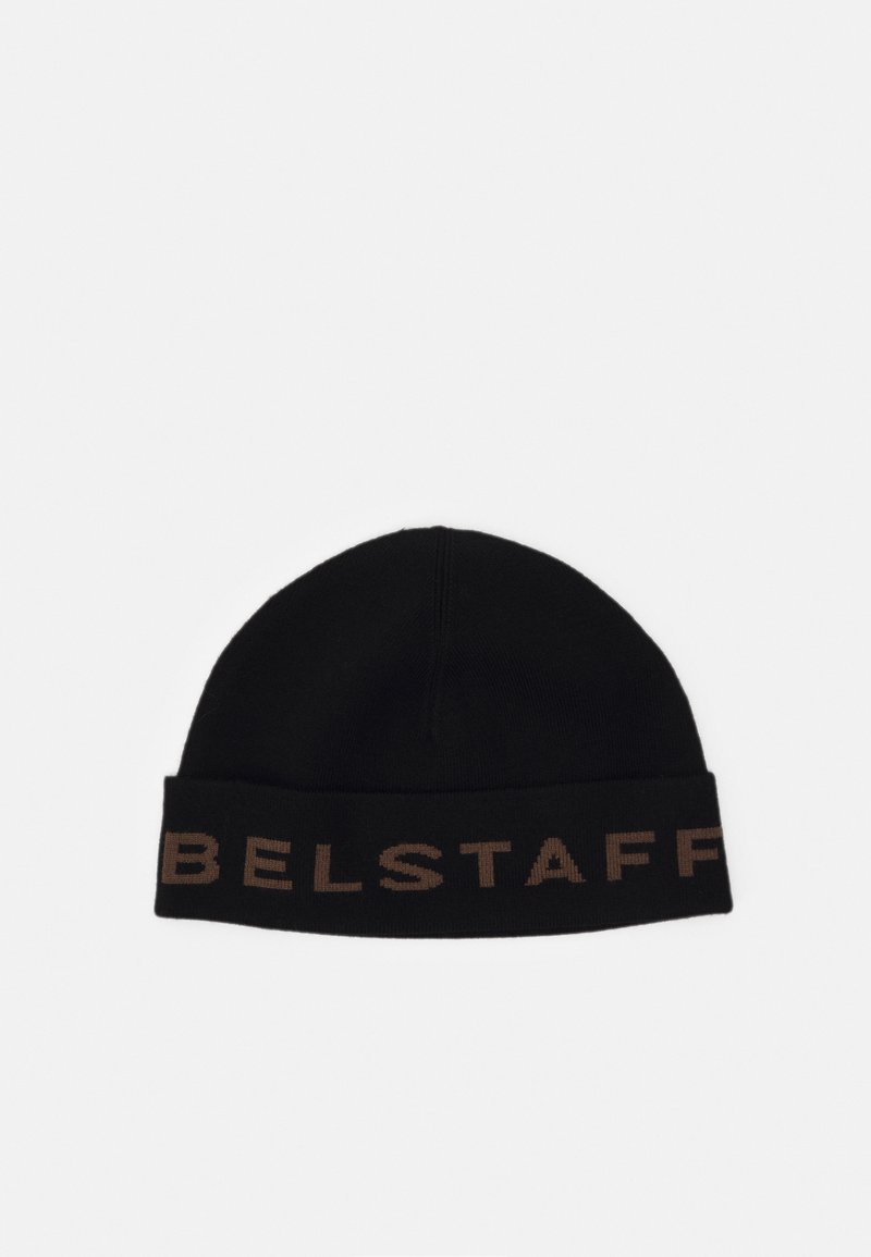 Belstaff - LOGO BEANIE - Čepice - black/umber