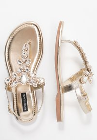 River Island - T-bar sandals - gold - 3