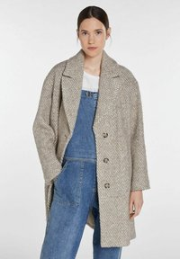 SET - Classic coat - offwhite brown - 0