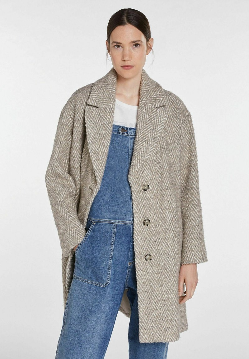 SET - Classic coat - offwhite brown