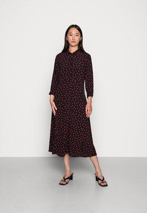 MUNTE ABOVE CALF DRESS  - Shirt dress - black high risk red polka dot