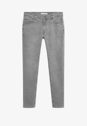 Slim fit jeans - denim grau