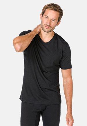 SUPER.NATURAL MERINO T-SHIRT M BASE V-NECK TEE 140 - Basic T-shirt - black