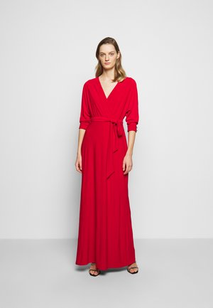 CLASSIC LONG GOWN WITH TRIM - Occasion wear - orient red
