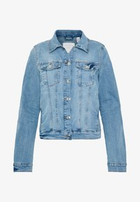 RIDERS JACKET - Denim jacket - light stone blue denim