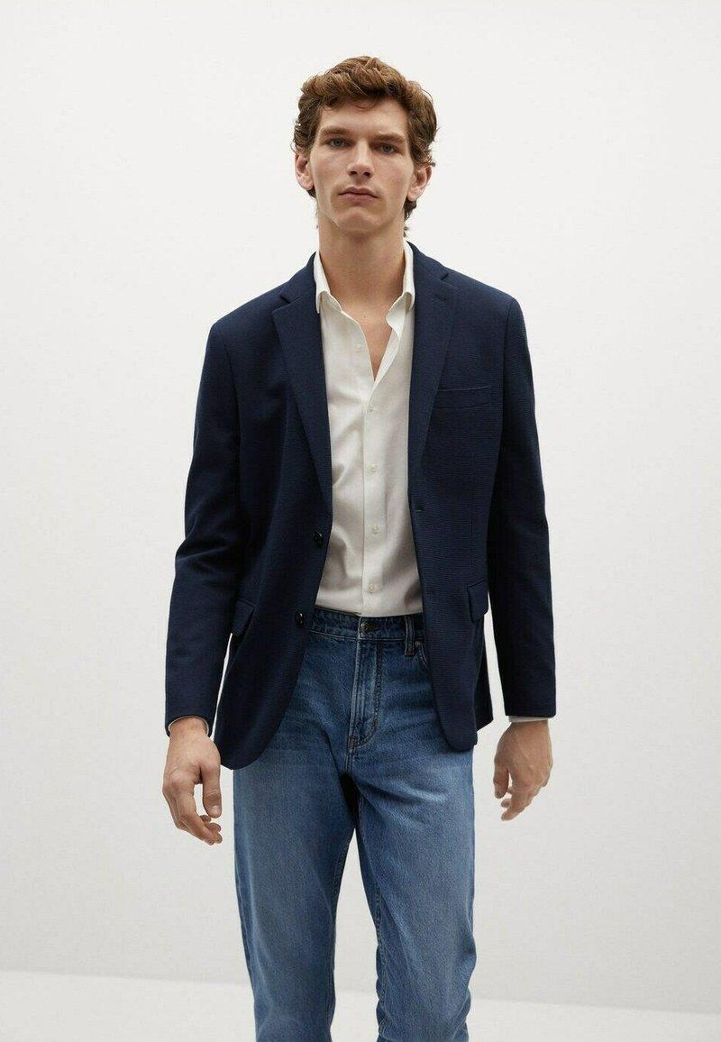 Mango - Blazer jacket - námořnická modrá
