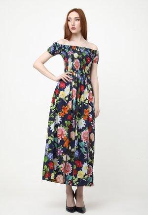 DGAMILA - Maxi dress - blau, koralle
