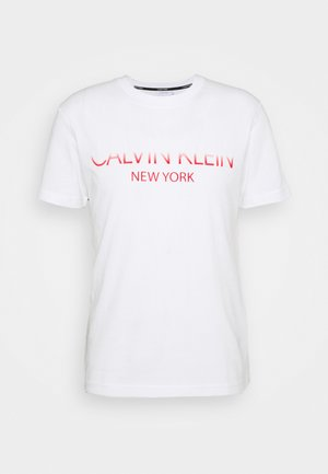 TONE ON TONE LOGO - T-shirt med print - white