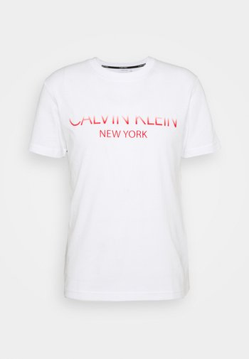 TONE ON TONE LOGO - Print T-shirt - white