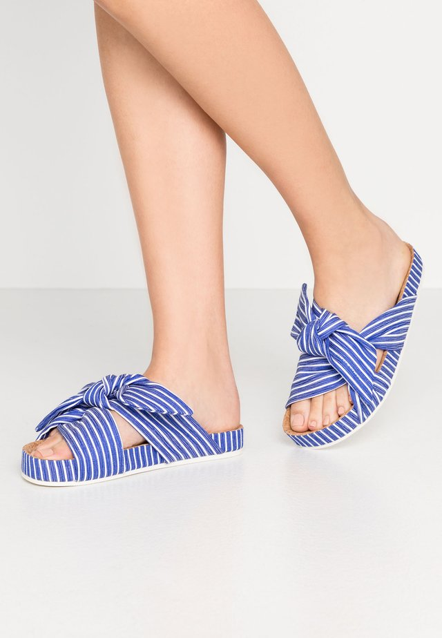 YOLIN  - Mules - blue striped