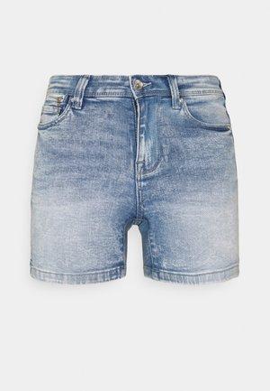 ONLISA LIFE ZIP - Denim shorts - light blue denim